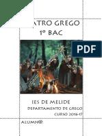 Teatro Grego e lecturas recoemendadas. 1º de BAC.  Curso 2016-2017