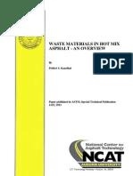 Waste Materials in Hot Mix Asphalt