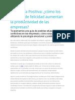 Psicología Positiva Cómo los estados de felicidad aumentan la productividad de las empresas.docx