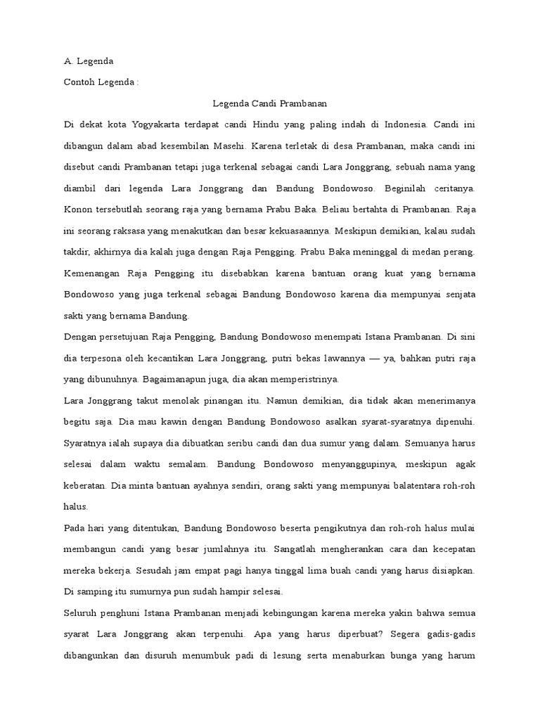 Contoh Cerita Jenaka Mite Fabel Legenda Saga Cerpen Dan Novel