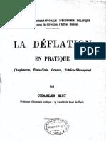 La déflation en pratique (Charles Rist, 1924) [extraits]