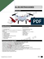 Manual Drone WLToys - V686G -