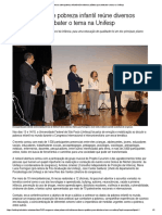 Congresso Sobre Pobreza Infantil Reúne Diversos Públicos Para Debater o Tema Na Unifesp