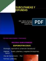 11. Micosis Subcutaneas y Profundas Dra Xenia Velasquez 2013
