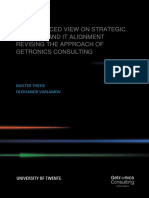 Balanced View on Strategic Business-IT Alignment. Revising the Approach of Getronics Consulting