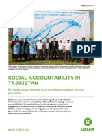 Social Accountability in Tajikistan