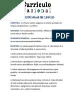 Definiciones Clave Del Curriculo Nacional 2017