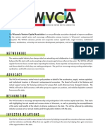 Wisconsin Venture Capital Association flier