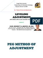 GE 105 Lecture 3 (LEVELING ADJUSTMENT) by