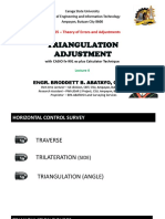 GE 105 Lecture 4 (TRIANGULATION ADJUSTMENT) by