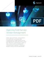 Digitizing Field Service Vendor Management