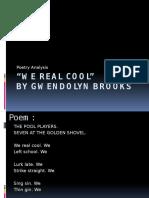 we real cool poetry presentation  1