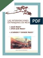 Las Intervenciones Extranjeras en Mexico
