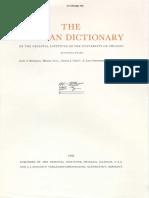 Dicionário Assírio s shin 3