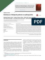 Resistance of Dialyzed Patients to Erythropoietin