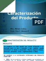 caracterizacion del producto