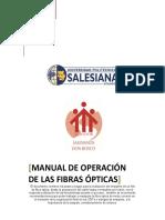 Manual de Empalme de Fibra Optica