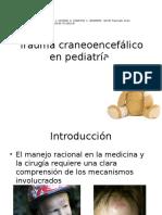 Trauma Craneoencefálico en Pediatría