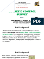 GE 122 Lecture 1 (GEODETIC CONTROL SURVEY) by