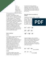 Acidos y Metales informe