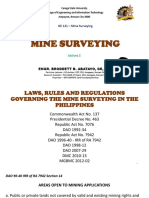 GE 121 Lecture 2  (MINE SURVEYING) by