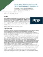 Síntesis y Caracterizacion Optica