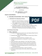 Accomplishment Report 2nd Sem 2015-2016
