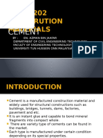 Chapter 1 - Cement