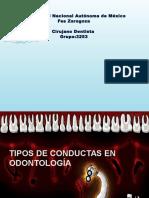 Concepto y Conductas de La Odontólogia