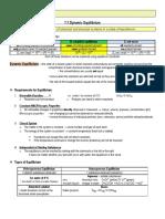 Topic 7 Equilibrium Notes