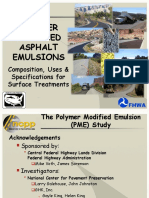 Polymer Modified Asphalt Emulsions