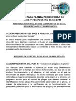 Plan Poes Para Planta Productora de Alimentos
