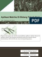 Aplikasi Matriks Di Bidang Teknik Sipil