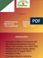 Case Chase-Dabur of Shalini Singh MBA 1ST YEAR