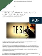 Secretos de TESLA La Entrevista Oculta de Nikola Tesla