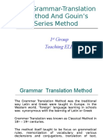 The Grammar-Translation Method and Gouin's Series Method