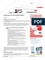 Anatomy of an Oil Analysis Report