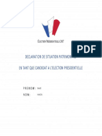 Déclaration de patrimoine Benoît Hamon