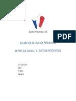 Déclaration de patrimoine Jean Lassalle