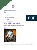 Guitar Jazz Theory 8 Steps