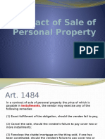 Contract of Sale of Personal Property