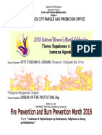 Banner Fire Prevention Month Bayambang March 2016