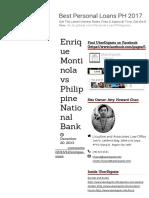 Nego - Montinola vs Pnb