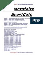 Quant Shortcuts