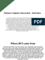 Human Computer Interaction - Brief Intro Lordnes
