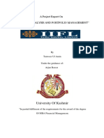 Security Analysis and Portfolio Management Project by Tanveer