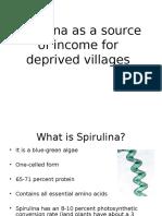 Spirulina Project Presentation