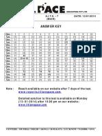 Aits - 7 _mains_ Answer Key