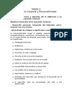 Tarea II Expresión Corporal y Psicomotricidad-diliana