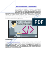 Full Stack Web Development Course Training Online